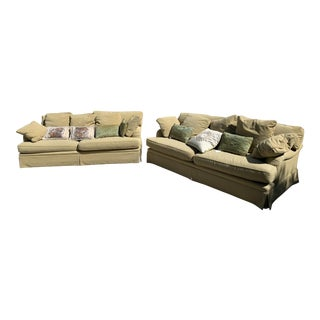 Contemporary Baker Sofas - a Pair For Sale