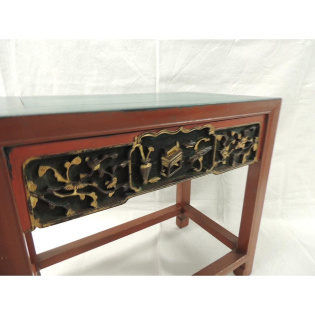 Vintage Chinese Lacquered Side Table - Image 5 of 7