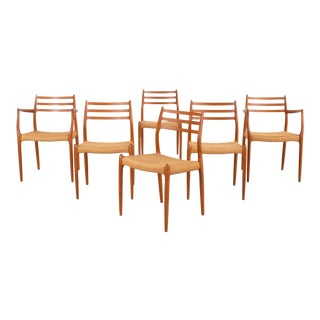 Set of Niels Moller Mid-Century Modern Dining Chairs For Sale