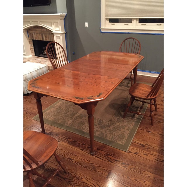 Brown L. Hitchcock Classic Briarcliffe Extension Dining Set For Sale - Image 8 of 11