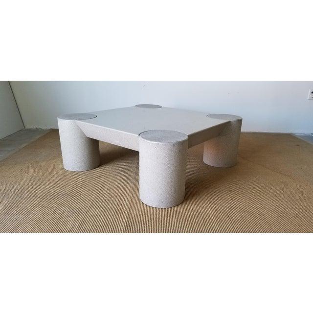 1980s Karl Springer Style Italian Postmodern Coffee Table For Sale - Image 10 of 10