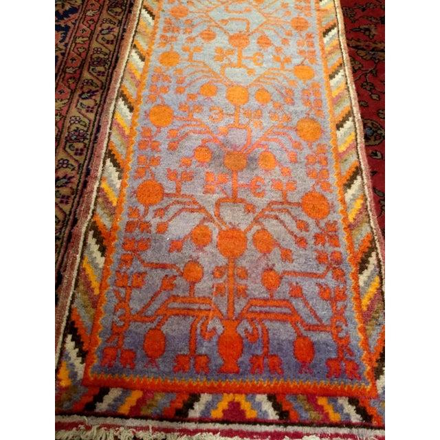 Blue 19th Century Art Nouveau Khotan Rug Runner - 2′2″ × 8′1″ For Sale - Image 8 of 12