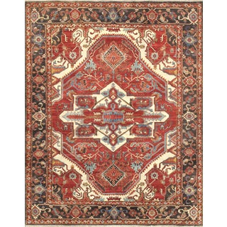 Pasargad Home Serapi Collection Wool Area Rug - 8′1″ × 10′2″ For Sale