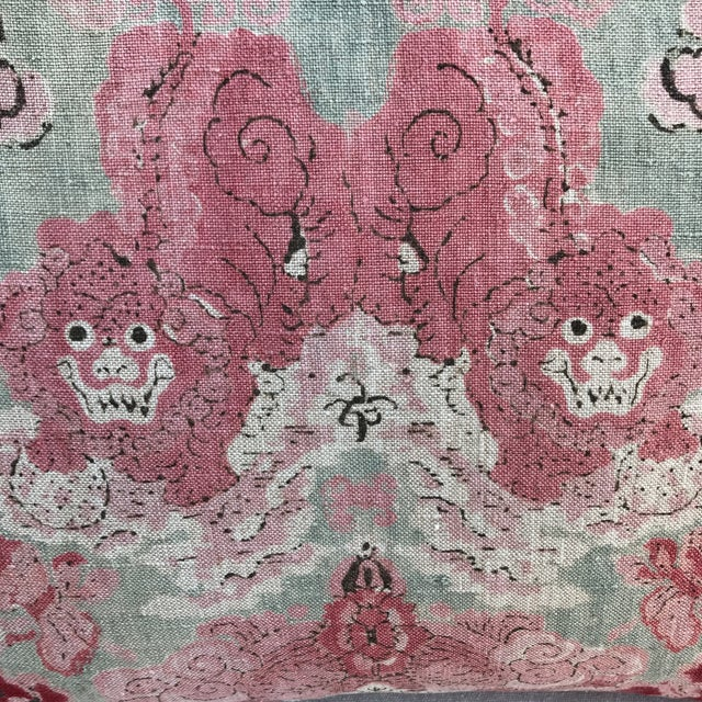 Chinoiserie Foo Dog Pillows - A Pair - Image 3 of 4