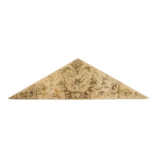 Large Triangular Terracotta Philadelphia Frieze Circa 1870 - 5 Pieces For Sale