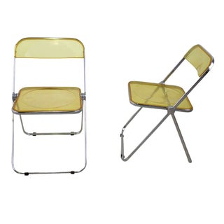 Castelli Plia Lucite Folding Chairs - A Pair