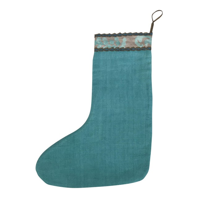 Fortuny Textile Christmas Stocking For Sale