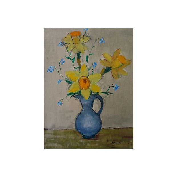 French Modernist Still Life Oil Painting - Image 2 of 4