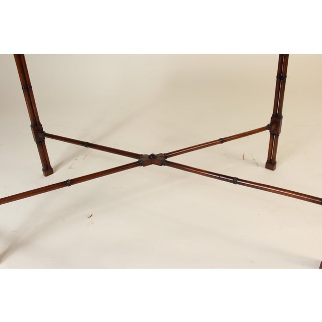 Chinese Chippendale Style Mahogany Tea Table For Sale - Image 9 of 13