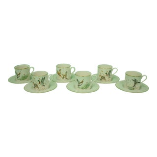 1950s Vintage Abercrombie & Fitch Pickard China Demitasse Cups & Saucers - 12 Pieces