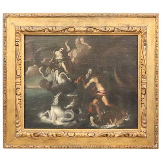 17th Century Italian Oil Painting on Canvas, Subject Mythological For Sale