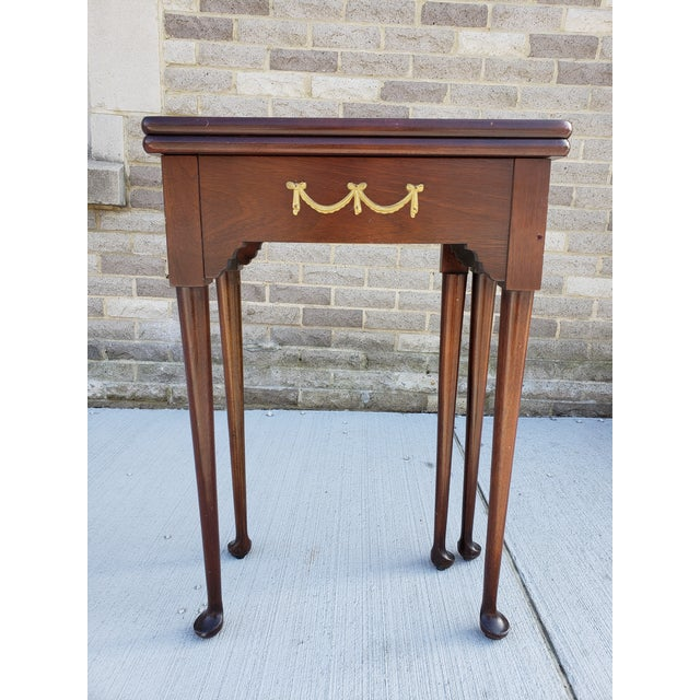Antique French Mahagony Petite Games Table For Sale - Image 13 of 13