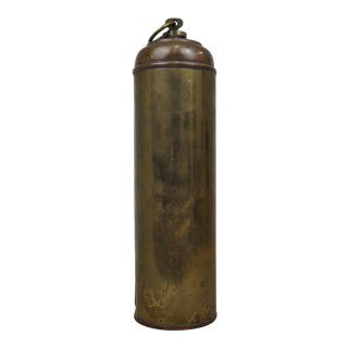 Antique Handmade Copper Thermos Bottle