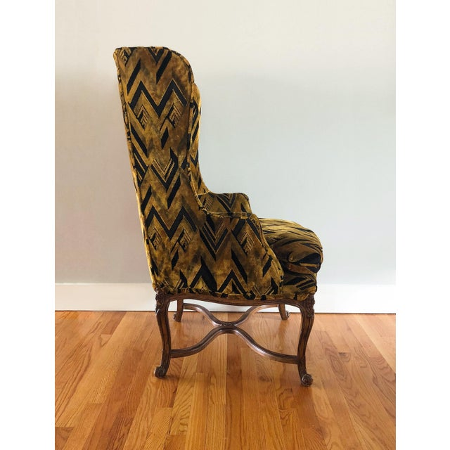 Chevron Wingback Accent Arm Chair - Image 3 of 11