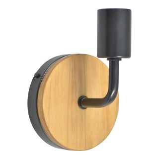 Modern Wood With Metal Wall Sconce
