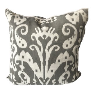 Brown and Ivory Ikat Throw Pillow Cover- Sold Individually For Sale