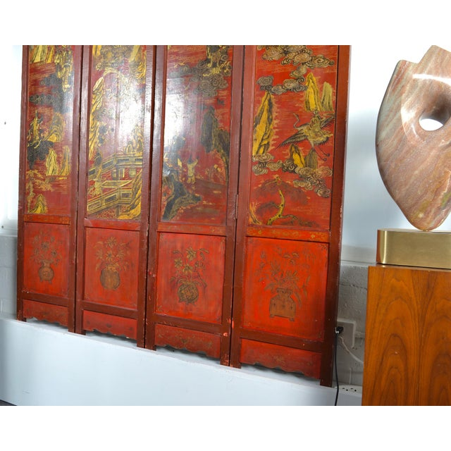 19th Century Chinoiserie Screen For Sale In New York - Image 6 of 9