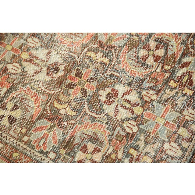 "Turquoise Vintage Distressed Mahal Carpet - 5'5"" X 10' For Sale - Image 8 of 13"