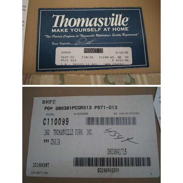 Thomasville Traditional Queen Anne Wing Chairs - 2 For Sale - Image 10 of 10