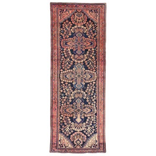 1940's Vintage Persian Kasvin Hamadan Runner- 3′9″ × 10′2″ For Sale