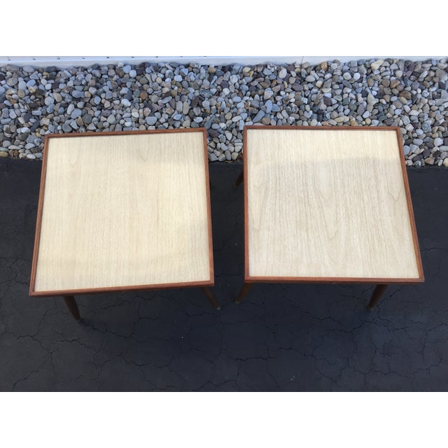 Mid-Century Stacking Side Tables - Pair - Image 4 of 6