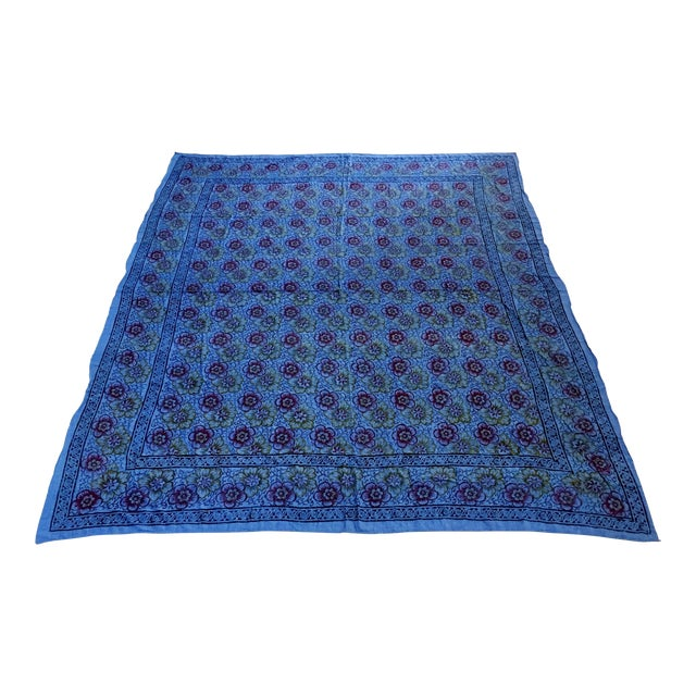 Kalamari Blue Textile From India For Sale