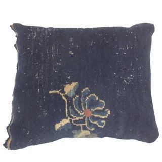 "Leon Banilivi Antique Navy Chinese Pillow, 1'6"" X 1'6"""