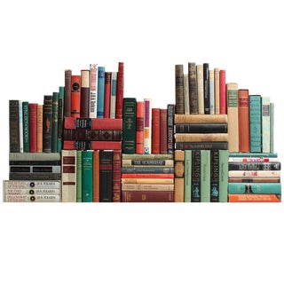 Vintage Curated British Classics: Libraries by the Foot For Sale