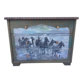 Pottery Barn Equestrian Horse Dresser For Sale