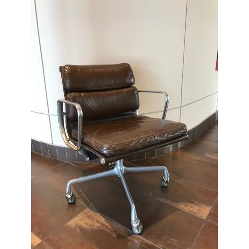 Vintage Mid-Century Eames Herman Miller Soft Pad Office Chair For Sale - Image 13 of 13