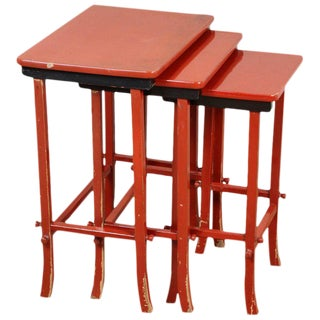 *Chinoiserie Lacquered Nesting Tables