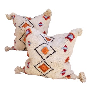 Soft Moroccan Wedding Quilt Pillows - a Pair For Sale