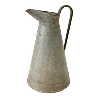 Late 20th Century Zinc Milk Pitcher For Sale