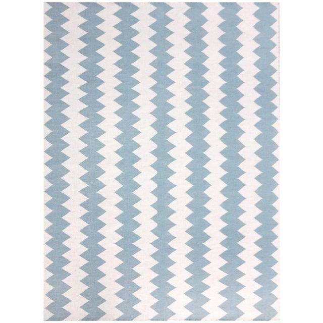 Zara Chevron Ivory Flat-Weave Rug 3'x5' For Sale - Image 4 of 4
