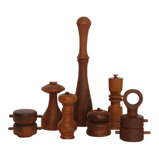 Quistgaard Danish Pepper Mills - Set of 7