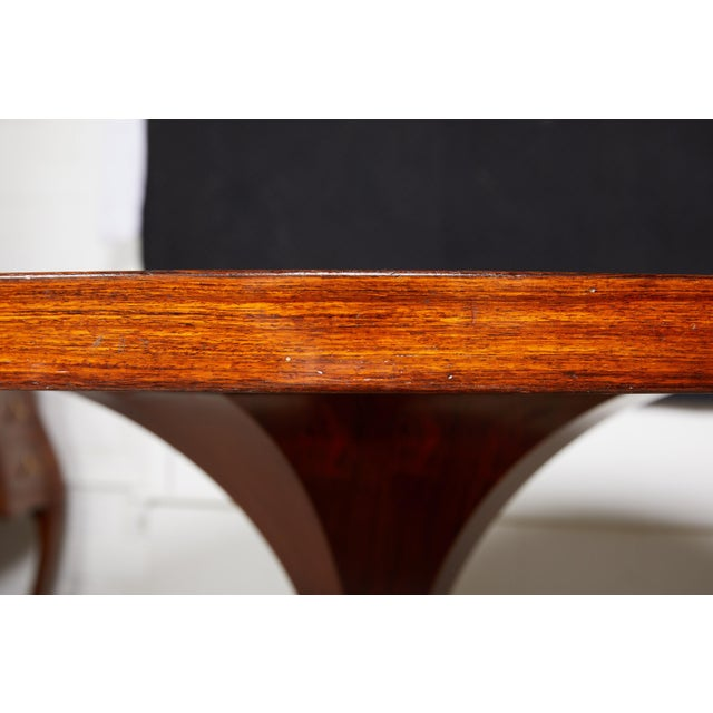 Italian Round Pedestal Dining Table of Palisander Wood For Sale In Atlanta - Image 6 of 12