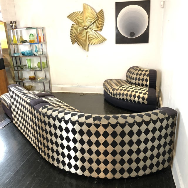 1980s Vladimir Kagan Curved 5 Piece Sofa for Weiman For Sale - Image 11 of 13