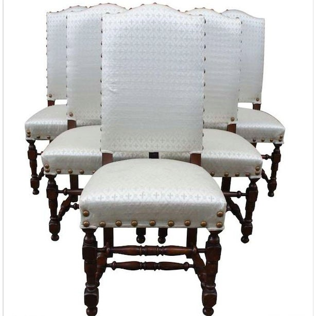 Early 20th Century Vintage Jacobean Spanish Style Dining Chairs- Set of 6 For Sale - Image 13 of 13