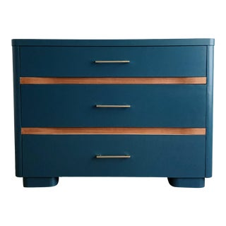 Vintage Mid Century Blue Moon Dresser For Sale