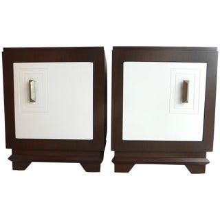 Mid-Century Art Deco Style Nightstands - Pair For Sale