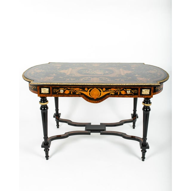 Traditional 19th Century Boulle Style Center Table For Sale - Image 3 of 11