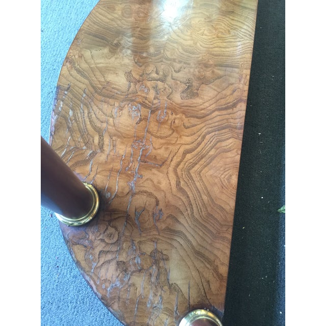 1970s Baker Furniture Demilune Table For Sale - Image 5 of 8
