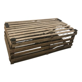 Early 20th Century Antique Lobster Trap Coffee Table For Sale