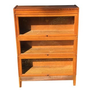 Macey Oak Barrister Lawyer Bookcase