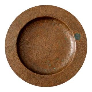 Antique Hammered Copper Bowl For Sale