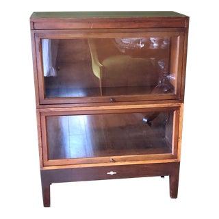 Antique Globe Wernicke Barrister Bookcase For Sale