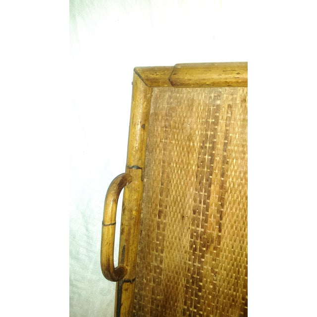Vintage Bamboo Serving Tray For Sale - Image 7 of 8