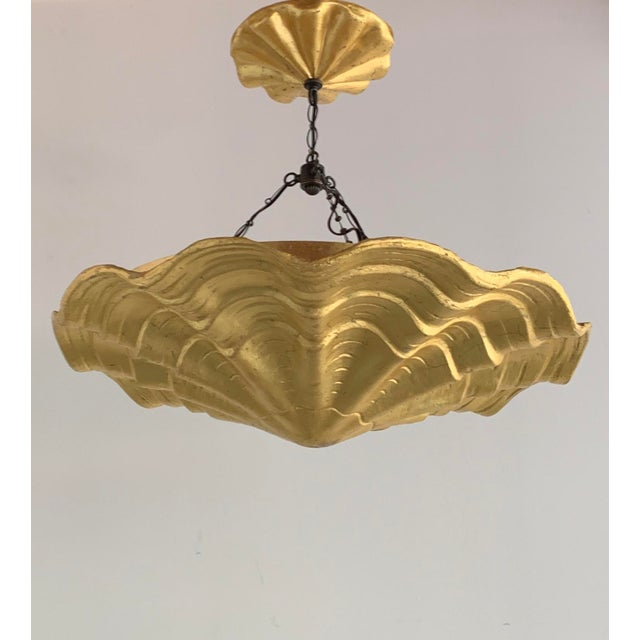 Hollywood Regency Tony Duquette Coquille Chandelier For Sale - Image 3 of 4