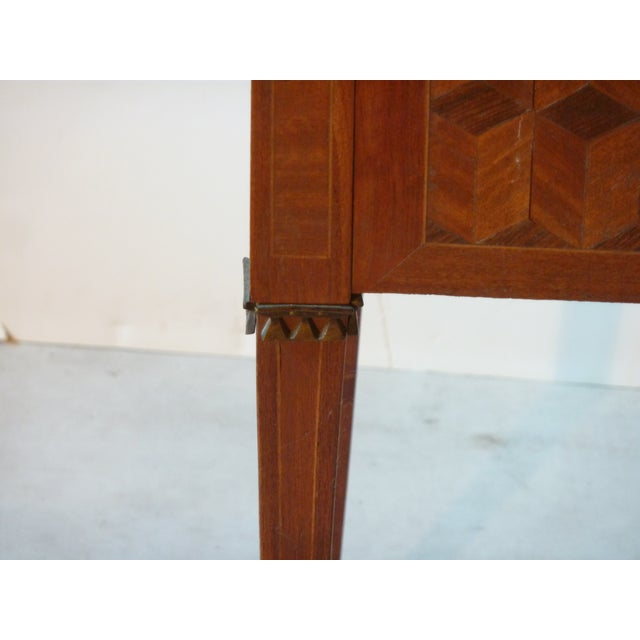 Late 19th Century Marquetry Inlaid Night Table For Sale - Image 5 of 9
