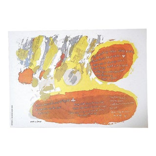 """Vintage Abstract Lithograph-Sister Mary Corita Kent - """"Each a Heart"""" For Sale"""